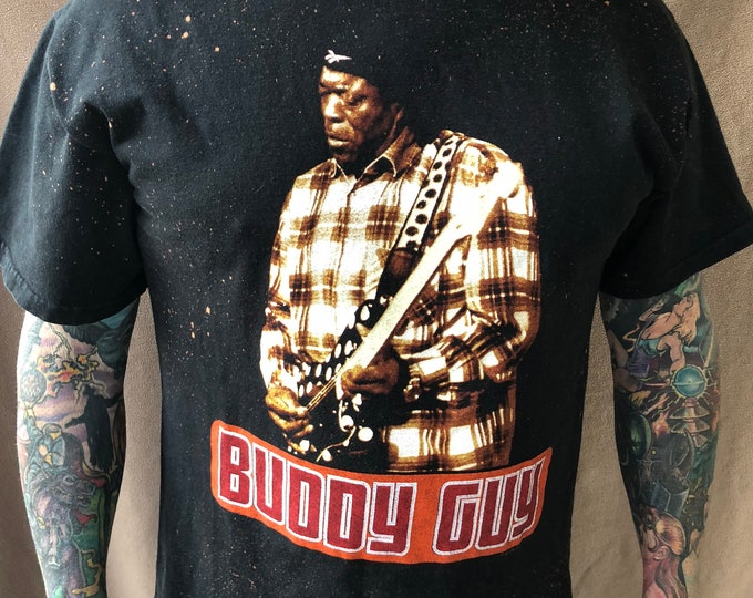 Buddy Guy Tour Distressed band shirt Blues Guitar Strat Stratocaster Band Tee Muddy Waters John Lee Hooker Robert Johnson Elmore James