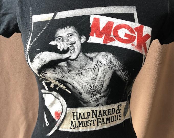 Machine Gun Kelly Band Shirt Ladies (XS) MGK Rapper Rap Hip Hop WWE Tattooed Tattoos Bloom Tyga Eminem Wiz Khalifa Kid Ink Camila Cabello