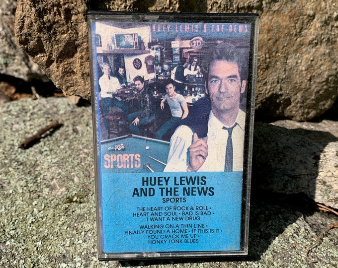 Vintage 1983 Huey Lewis and the News Sports Cassette Tape Men At Work INXS Bob Seger Foreigner Thin Lizzy Thompson Twins Tears For Fears