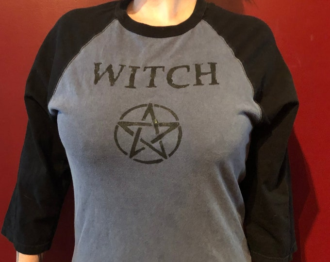 DIY Art Witch Wicca Wiccan Pentacle shirt  Ouija Tarot Cards (MED) Witchcraft Occult Pentagram Salem Witchy Goth Gothic Coven Witches Sexy