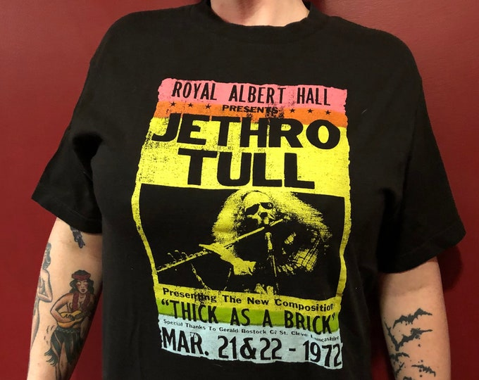 Jethro Tull Band Shirt (M) Prog Rock Ian Anderson Aqualung Flute Thick As A Brick Pink Floyd The Moody Blues Procol Harum Gentle Giant YES