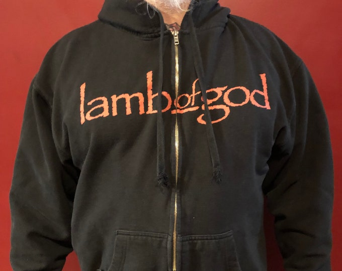 Lamb Of God (XL) Zip Hoodie Machine Head Devildriver Hatebreed Killswitch Engage Coal Chamber Trivium Arch Enemy COBHC Sepultura Pantera