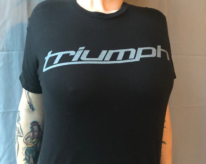 Triumph Motorcycles shirt (S) Echo Grove Cycle Edmonton Aberta Canada Bonneville Bikers Biker Evel Knievel Motorcycle Sons of Anarchy SOA