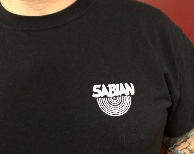 Sabian Cymbals Drummer Band Shirt Drumming Drums (L) Drumset Drumkit Neil Peart Terry Bozzio Zildjian Cymbal Percussion Snare Phil Collins