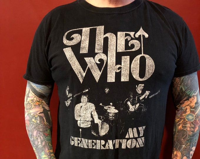 The Who Band Shirt (L) Pete Townshend Roger Daltrey Magic Bus My Generation Tommy Quadrophenia Tour Shirt The Jam Paul Weller The Yardbirds