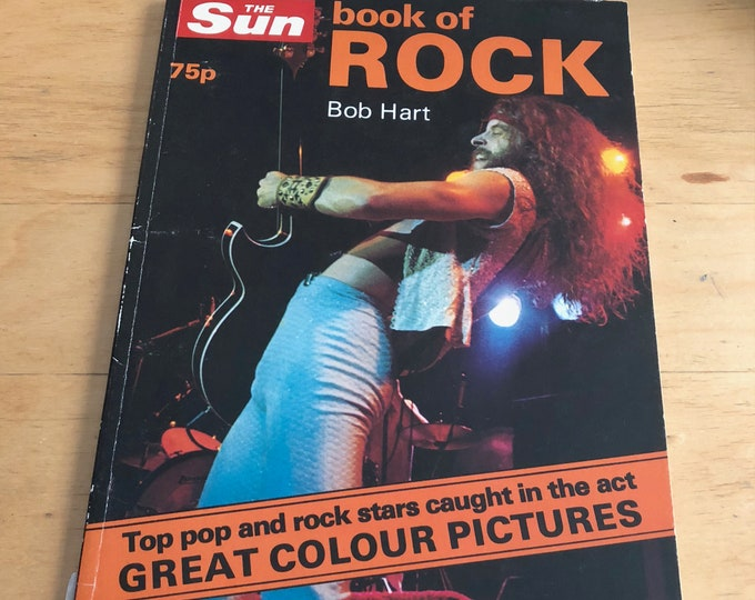 Vintage Book of Rock 1977 Softcover Book Ted Nugent Rolling Stones Peter Frampton Slade  Runaways Glam Aerosmith Paul McCartney Elton John