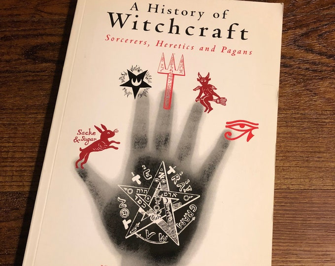 Vintage 1999 History of Witchcraft Softcover Book Witch Occult Tarot witches Witchy Salem Goth Gothic Sorcerer Hex Coven Pagan Halloween