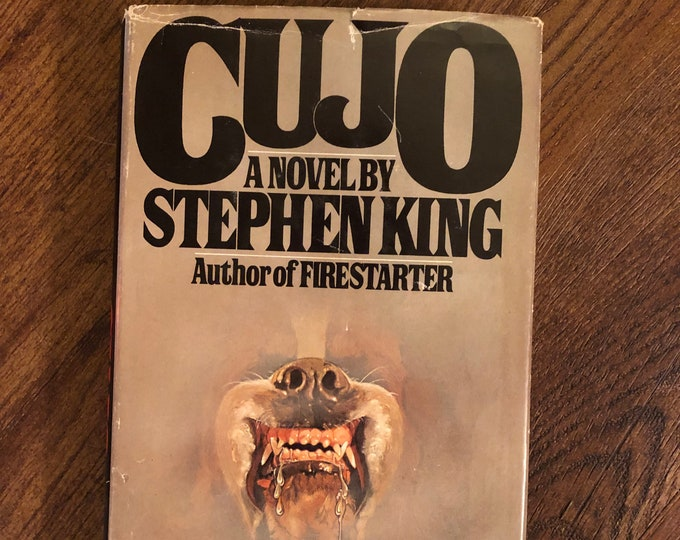 Vintage Early Edition CUJO 1981 Stephen King Pet Sematary Horror Witchcraft Gothic Mystery The Shining Dead Zone Dolores Claiborne The Mist