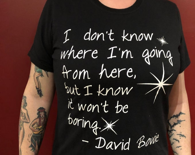 David Bowie  (Ladies MED) Aladdin Sane Lets Dance Ziggy Stardust Glam Diamond Dogs Iggy Pop Ashes to Ashes Blackstar Marc Bolan Roxy Music