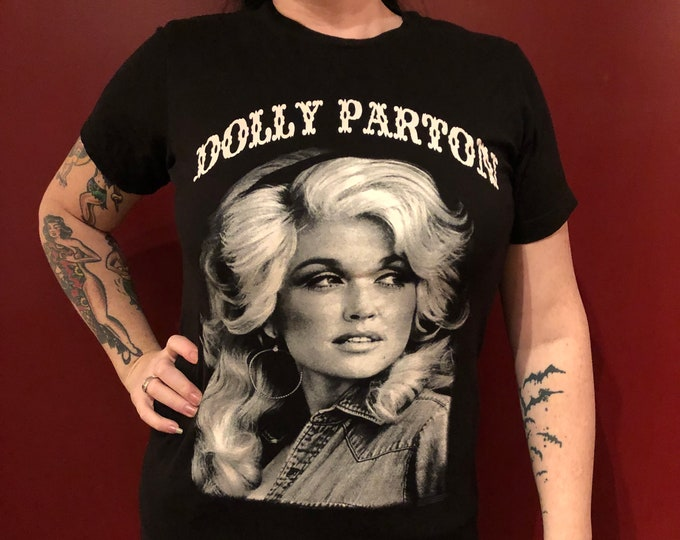 Dolly Parton BandShirt (S) Country Music  Nashville Memphis Bandtee Outlaw Merle Haggard Willie Nelson Johnny Cash Bob Dylan Reba McEntire