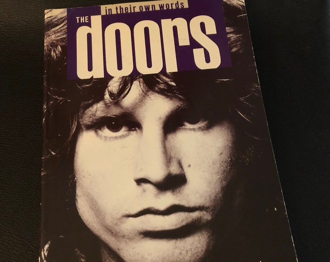 Vintage 1988 The Doors Moonlight Drive Jim Morrison Softcover Book Poet Poetry Bob Dylan Jim Carroll Books Oscar Wilde Patti Smith Phish