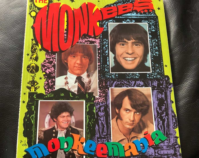 Vintage Monkeemania The Story of the Monkees Softcoverbook Davey Jones Peter Tork Micky Dolenz Mike Nesmith Partridge Family Hermans Hermits