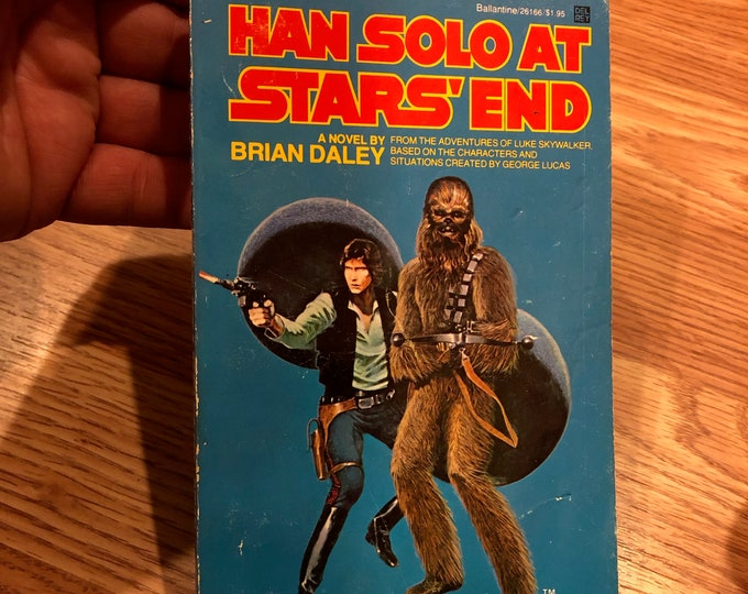 Vintage 1979 Han Solo at Stars End  Paperback Book Star Wars Darth Vader Boba Fett Jabba the Hutt Darth Maul George Lucas Millennium Falcon