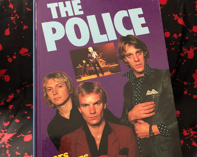 VINTAGE 1987 The Police Hardcover Book Buzzcocks Mods The Clash The Damned STING Andy Summers Stewart Copeland The Jam Paul Weller ROXANNE