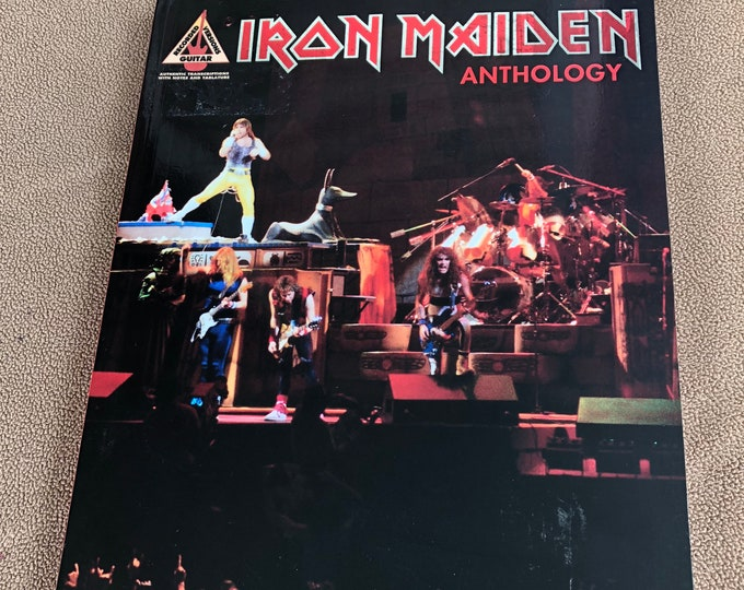 2006 Iron Maiden Anthology Guitar Tab NWOBHM Metalheads Dave Murray Adrain Smith Janick Gers The Trooper Number of the Beast 666 Heavy Metal