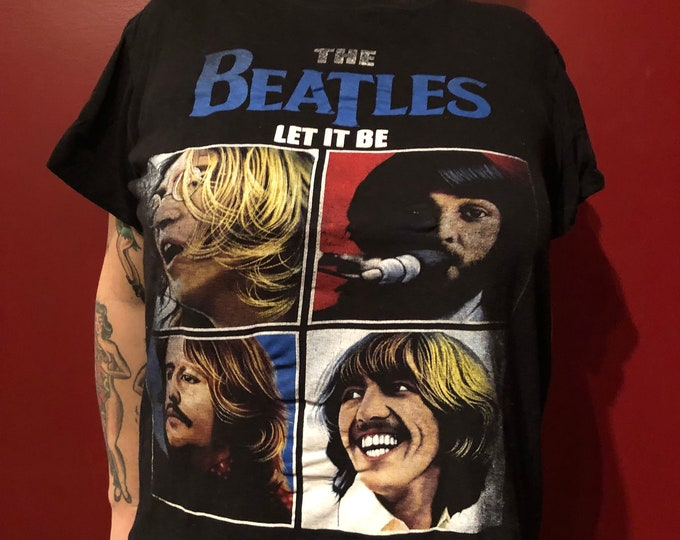 BEATLES Let It Be Band Shirt (S) John Lennon Paul McCartney Revolver Helter Skelter Ringo Starr George Harrison Fab4 Band Tee Glass Onion