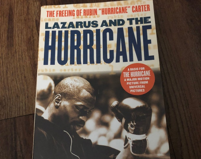 Vintage Rubin Carter Softcover Book  1991 The Hurricane Boxer Boxing Sports True Crime Justice Bob Dylan Denzel Washington