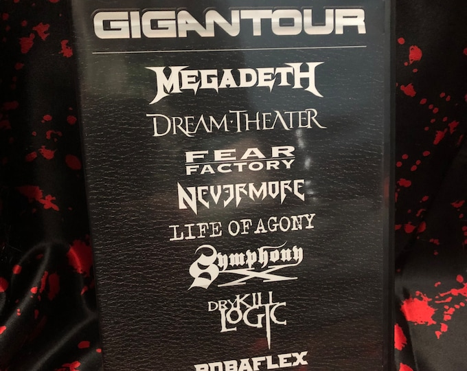 Gigantour  2005 Tour 2 DVD Set Megadeth Fear Factory Nevermore Life Of Agony Symphony X Dry Kill Logic Bobaflex Heavy Metal Dave Mustaine