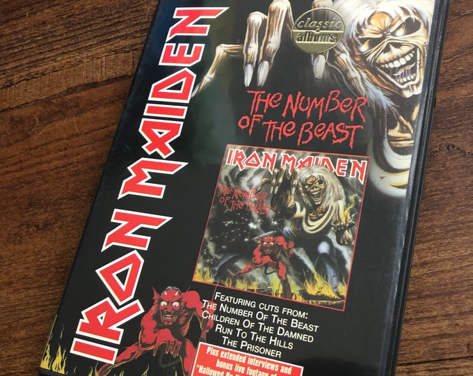 Iron Maiden Number of the Beast DVD The Trooper Paul DiAnno Steve Harris NWOBHM Up the Irons Fear of the Dark  Metalhead Aces High Saxon