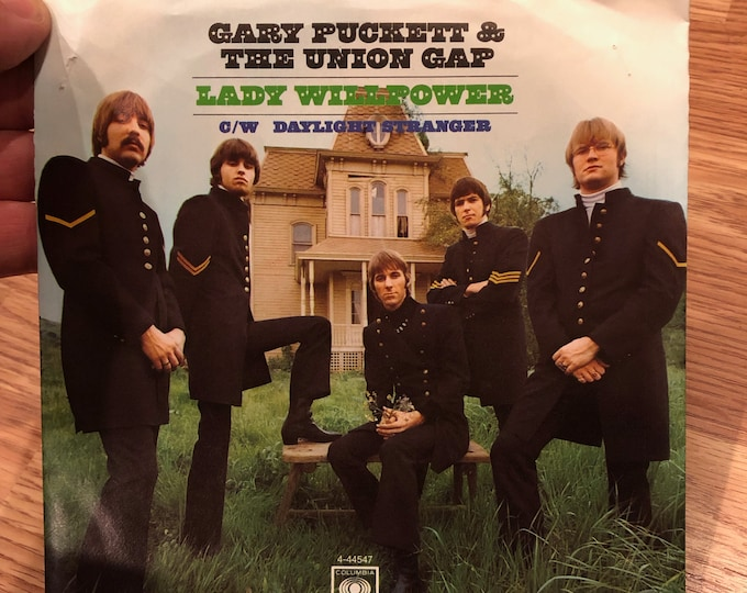 "Gary Puckett & The Union Gap Lady Willpower 45 RPM 7"" Vinyl Singlewith Picture Sleeve Daylight Stranger Records Columbia Hermans Hermits"