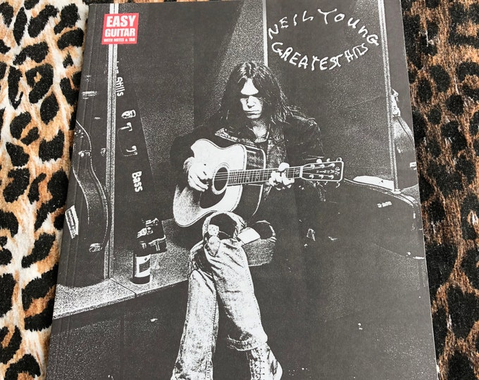 Neil Young Greatest Hits for guitar - Hal Leonard Softcover sheet csny guitartab Guitar Player Guitarist Woodstock Jimi Hendrix Jim Morrison
