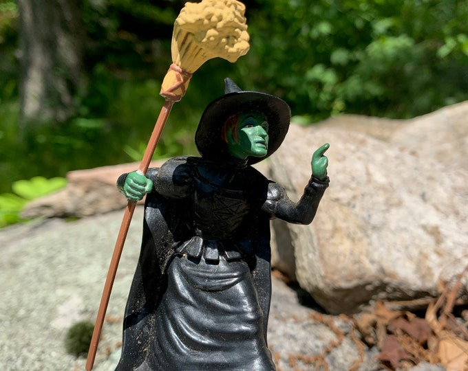 "Loew's Ren Turner Presents Wizard Of Oz Wicked Witch Of The West 3.5"" PVC Figure Vintage 1988 Munchkins Ray Bolger Jack Haley Bert Lahr"