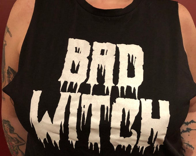 Altered & Distresses Bad Witch Shirt Wicca witchcraft Witches Witchy Occult Tarot Gothgirl Hex VVitch Creepy Horror American Horror Story