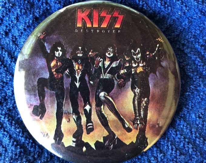 Kiss Destroyer Solo Album Pin Pins Badge Pinback Black Sabbath Ozzy Osbourne Metallica Motorhead Megadeth Kissband Paul Stanley Kisstory