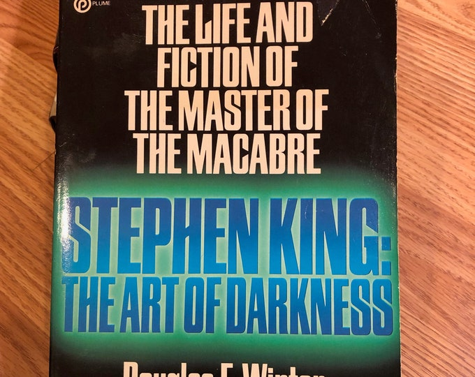 Vintage 1986 The Art Of Darkness Stephen King Pet Sematary Horror Witchcraft Gothic Mystery The Shining Dead Zone Dolores Claiborne The Mist