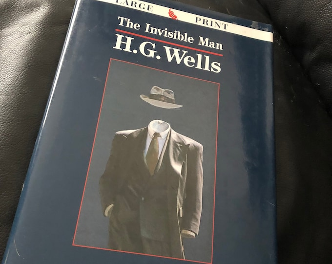 VINTAGE 1996 HG Wells Hardcover Book The Invisible Man Large Print Universal Monsters Horror Sci Fi Claude Rains Science Fiction Karloff
