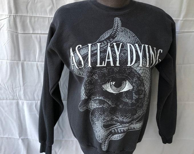 As I Lay Dying Sweatshirt - Unisex Sz Small - Heavy metal Prog Metal Metalhead Shadows and Security Trivium Killswitch Engage Metalcore