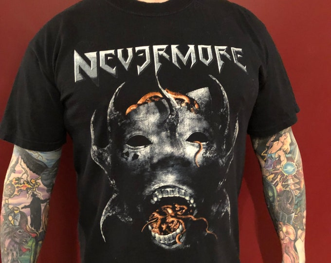 Nevermore Band Shirt (L) Arch Enemy Within Temptation Blind Guardian Iced Earth Annihilator Testament Symphony X  Overkill Mercyful Fate