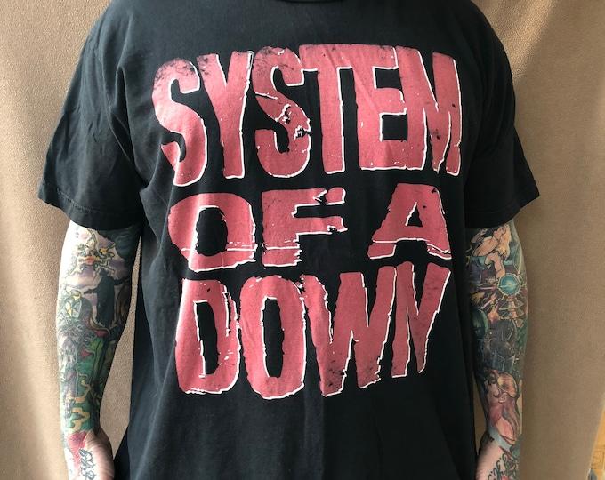 System of a Down 2011 Tour Shirt tshirt Bandshirt Metal Industrial NuMetal  bandTee Toxicity Serj Tankian ProgMetal Heavy Metal Slipknot