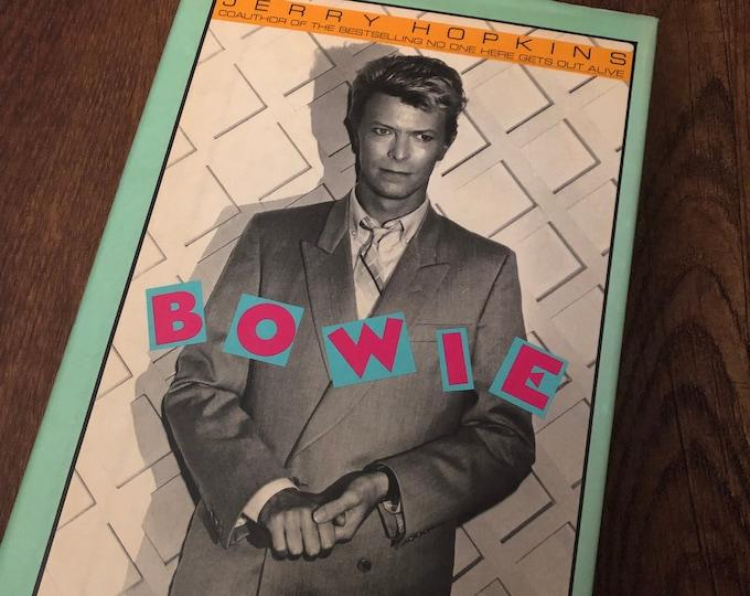 Vintage David Bowie 1985 Hardcover Book Jerry Hopkins  RebelRebel Ziggy Stardust Aladdin Sane Glam Blackstar Mick Ronson Diamond Dogs Iman