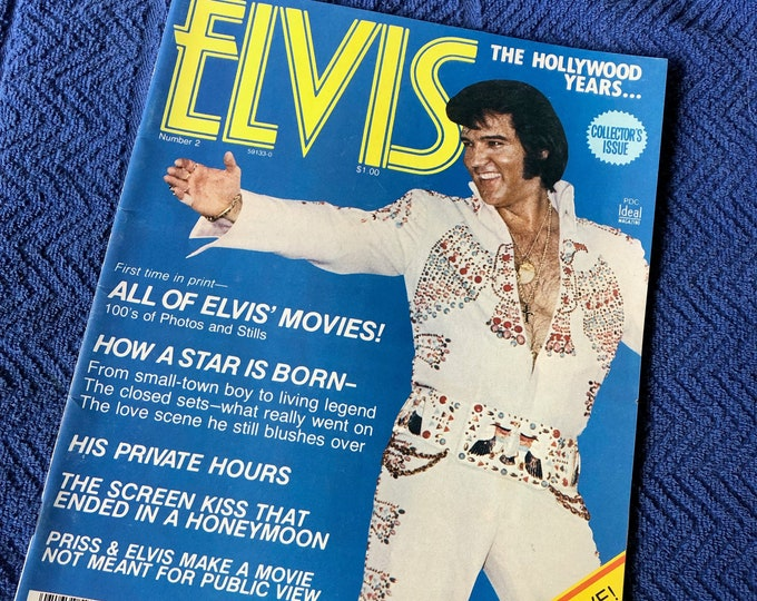 Vintage 1976 Elvis Presley Magazine Full Color Centerfold Graceland Memphis Viva Las Vegas Jailhouse Rock Heartbreak Hotel Tom Jones Oldies