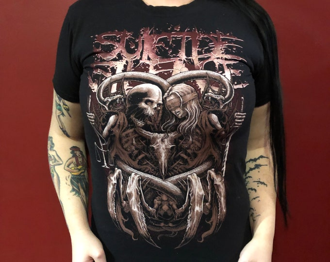 Suicide Silence Band Shirt (S) Metalcore heavymetal Bring Me The Horizon BandTee Paramore SleepingwithSirens Asking Alexandria Whitechapel