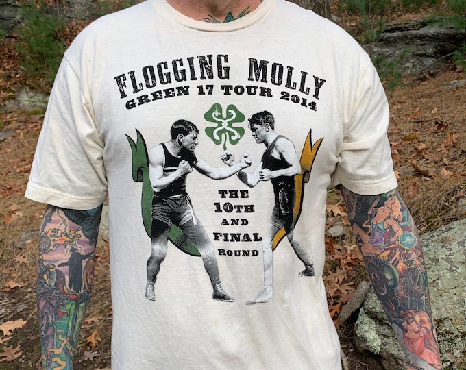 Flogging Molly Tour Shirt (XL) Irish Punk Punks Not Dead Punkrocker The Mahones Dropkick Murphys Less Than Jake Social Distortion Rancid DOA