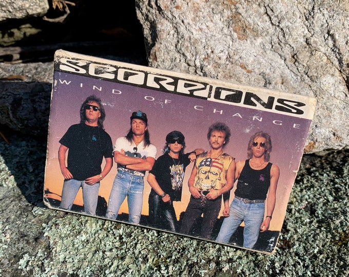Vintage 1990 Scorpions Winds Of Change In Cassette Single Tape Whitesnake Deep Purple MIchael Schenker Black Sabbath Judas Priest Rammstein