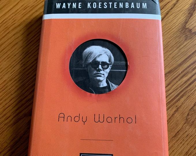 VINTAGE Andy Warhol Hardcover Book Velvet Underground Lou Reed Edie Sedgwick Allen Ginsberg CBGB Jim Morrison David Bowie The Doors Nico