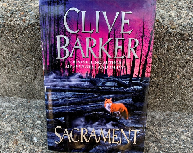 Clive Barker Sacrament Hardcover Book 1996 FIRST EDITION Occult Novel Ritual Witch Witchcraft Michael Myers Hellraiser Wes Craven Terror