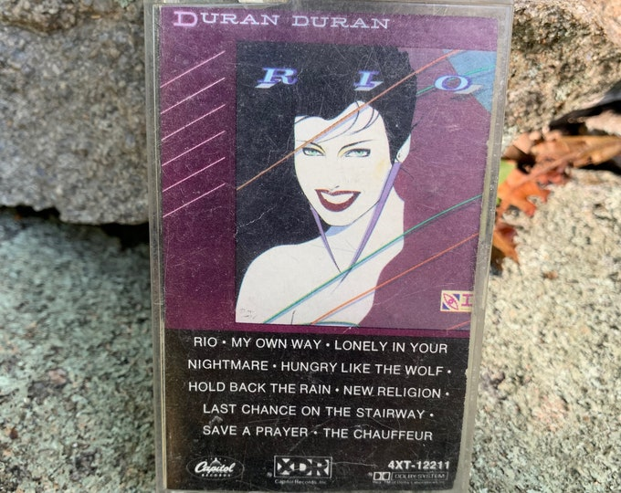 Vintage Duran Duran Rio Cassette Tape New Wave Talking Heads Devo Gary Numan John Taylor Simon Le Bon Andy Taylor Nick Rhodes Culture Club