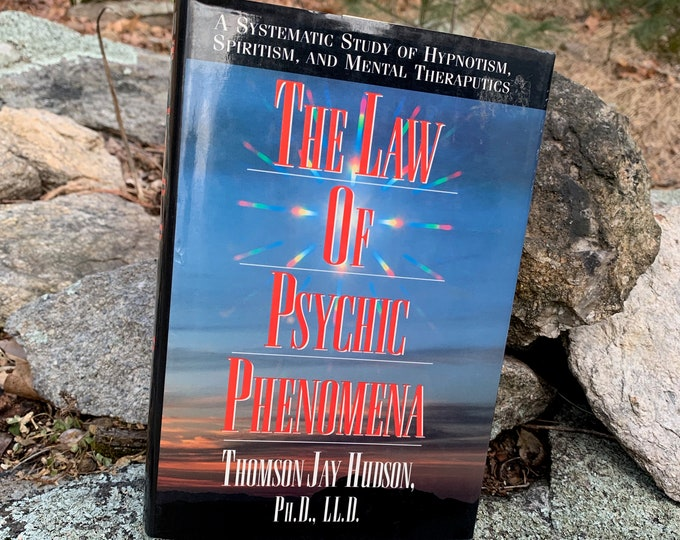 Vintage 95 The Law of Psychic Phenomena Hardcover Book Tarot Cards Palm Reading Crystal Healing Clarvoyant Witchy Crystal Ball Palmistry