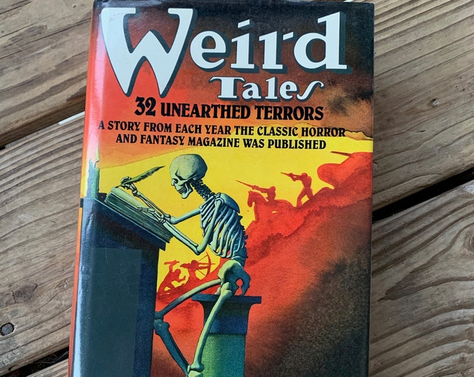 Vintage 1988 Weird Tales Hardcover Book Horror Ray Bradbury HP Lovecraft Haunting Scary Terror Short Stories Urban Legend Halloween Monsters