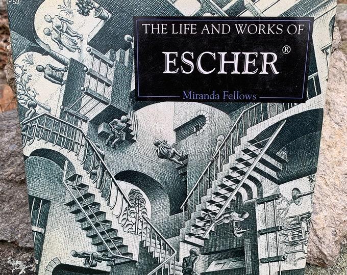Vintage Escher Art Book 1995 Artwork Artist Sketch Arts Art Instruction Ink Pen Pencils Chalk Sketchbook Crayons Micron Drawing Pen Painting