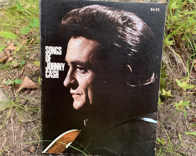 Vintage Songs of Johnny Cash Softcover Book 1970 Guitar Tabs Country Music Walk the Line Man in Black Ring of Fire CMT Bob Dylan Sheet Music