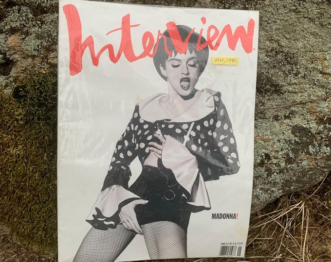 VINTAGE 1990 Madonna Interview Magazine Andy Warhol Like A Virgin Blonde Ambition Lady Gaga Britney Spears Kylie Minogue Cher Miley Cyrus