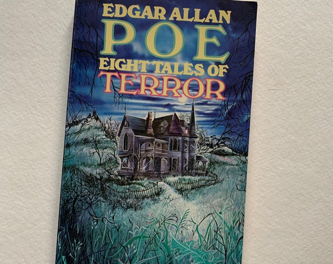 Vintage 1978 Edgar Allan Poe Eight Tales of Terror Paperback Book Vincent Price Gothic Goth Poet Writer Novel Horror The Black Cat Witchy