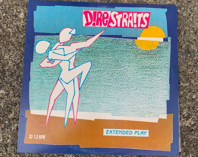 "Vintage 1983  12"" EP Single Vinyl Dire Straits Twisting By The Pool Mark Knopfler Eric Clapton Jeff Beck ZZ Top Roger Waters JJ Cale The Who"