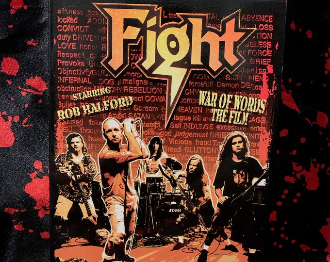 Rob Halford War of Words FIGHT DVD Judas Priest Heavy Metal Metalhead Skid Row British Steel Black Sabbath Iron Maiden Metallica Slayer