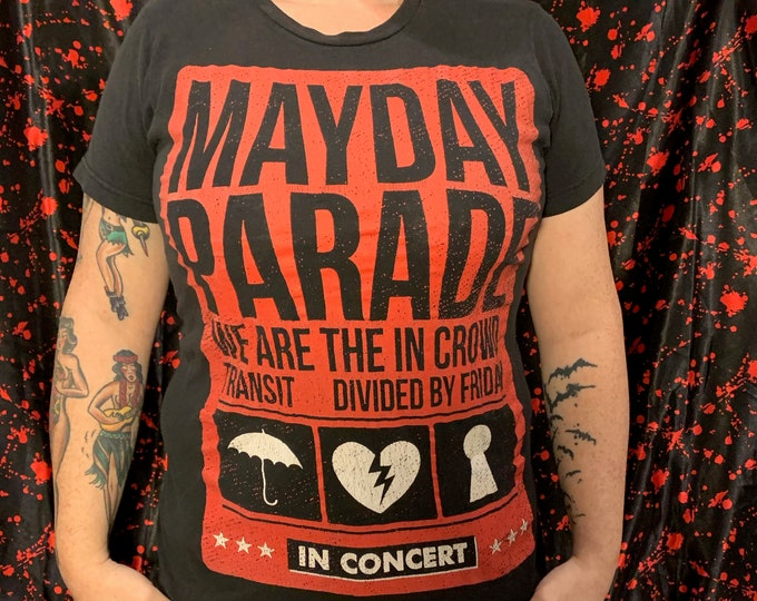 Mayday Parade Band Shirt (S) Metalcore Pop Alternative Rock Paramore Of Mice and Men Black Veil Brides All Time Low New Found Glory Go Radio